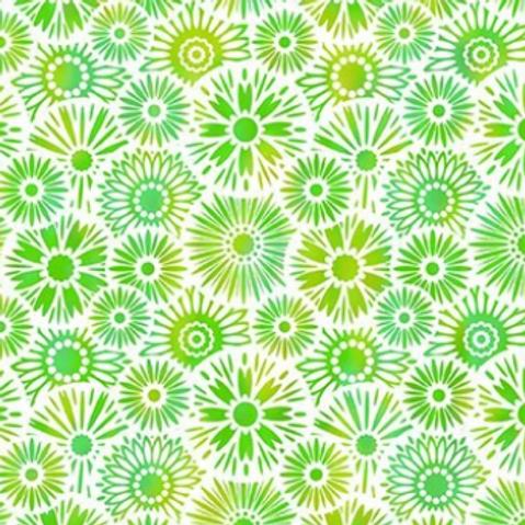 Unusual Garden II - Bloom (Green/White)