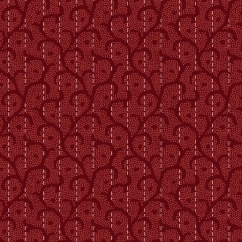 Heritage Woolies - Stitched Scroll - Red