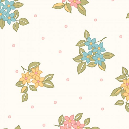 Sunlit Blooms - Cream Small Floral