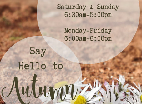 New Weekend Hours