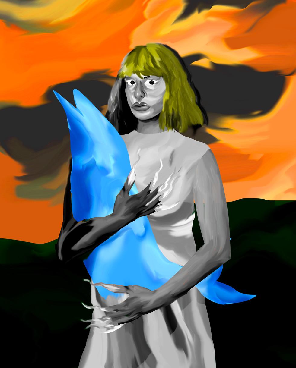 femmeà dauphin