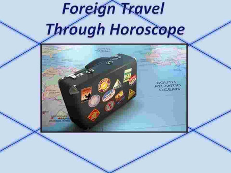 Abroad Travel Astrology