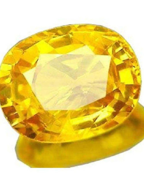 Natural and Genuine Yellow Sapphire (Ceylonese) Gemstone - Premium Plus