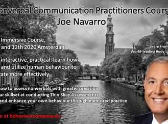 Last month early bird fee Joe Navarro's NVCPC 2020
