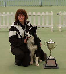 Take the Lead owner, Rachel, with prize winning border collie