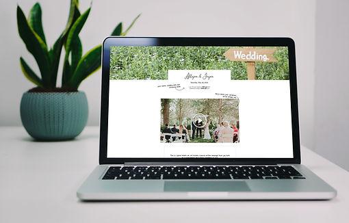 wedding live stream personal webpage
