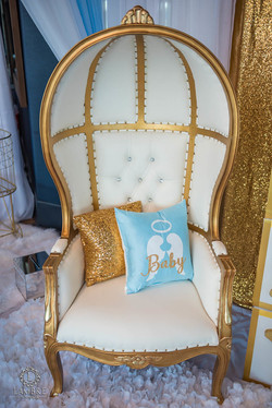 Gold/White Dome Chair
