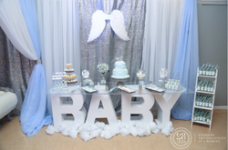 Backdrop & Baby Table