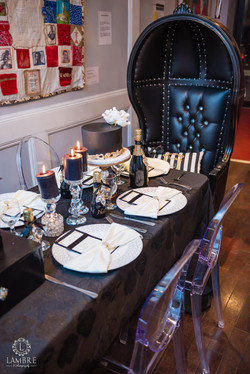 Ghost Chairs & Black Dome Chair