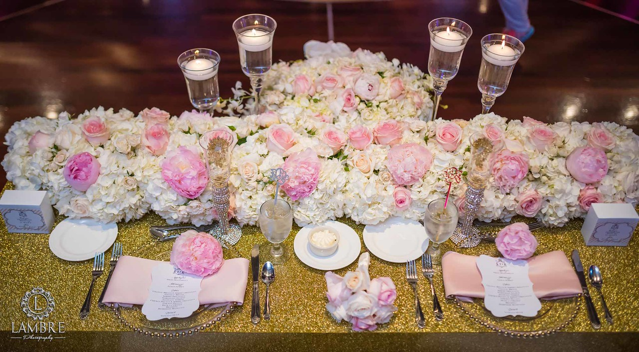 Gold Glitter Top Table