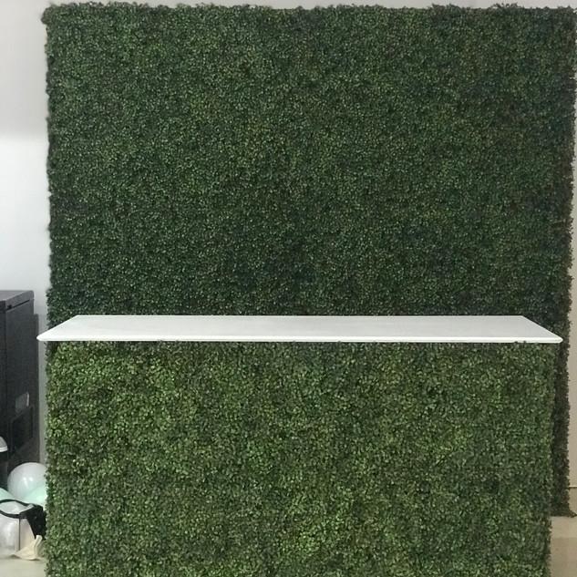 Grass bar with shelfs