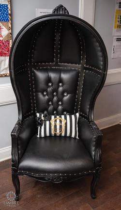 Black Dome Chair
