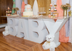 Baby Table & Backdrop
