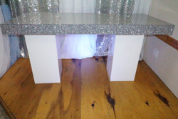 Silver Glitter Top 6ft Table