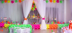 Draping, Ghost Tables & Chairs