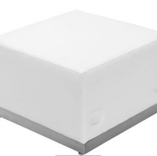 White lounge Ottoman