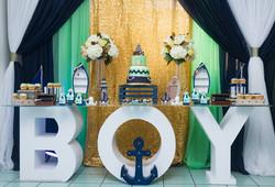 Boy Table & Backdrop