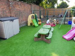 Dit is de tuin van Mini-crèche 't Schildpadje