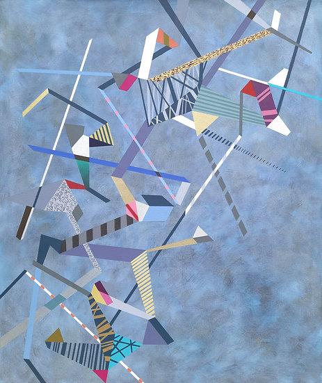Diagonální kompozice 3 / Diagonal Composition 3 / 100x120 cm