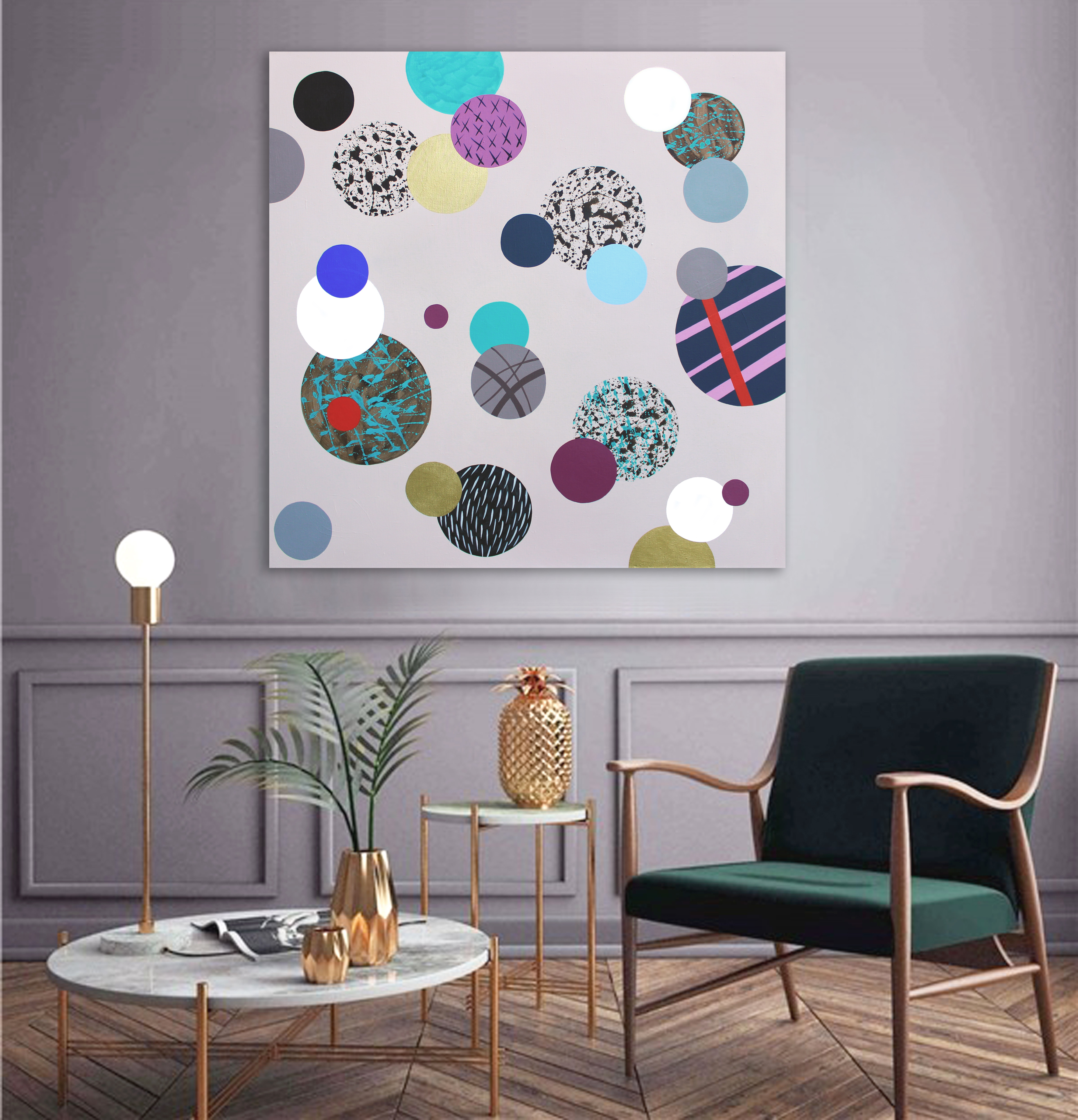 Only dots 11,2020,100x100cm