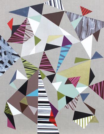 Trojúhelníky 2 / Triangles 2 / 85x110 cm