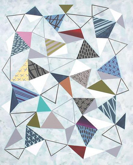 Trojúhelníky 7 / Triangles 7 / 65x80 cm