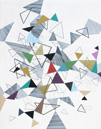 Trojúhelníky 1 / Triangles 1 / 70x90 cm