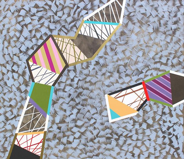 Barva, tvar a textura 1 / Colour, Shape and Texture 1 / 130x150cm