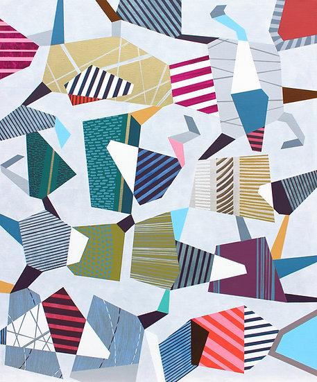 Hra & rozmanitost 18 / Play & Diversity 18 / 110x130 cm
