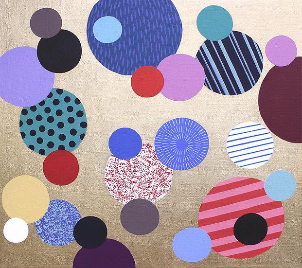 Kolečka 5 / Only dots 5 / 55x60 cm