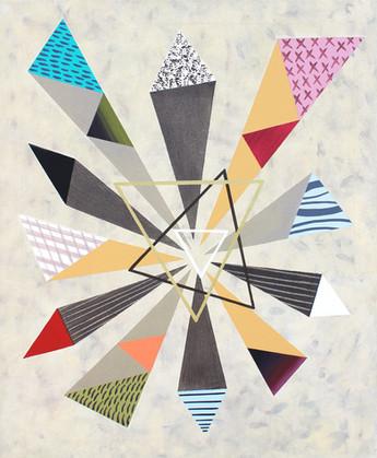 Trojúhelníky 5 / Triangles 5 / 65x80 cm