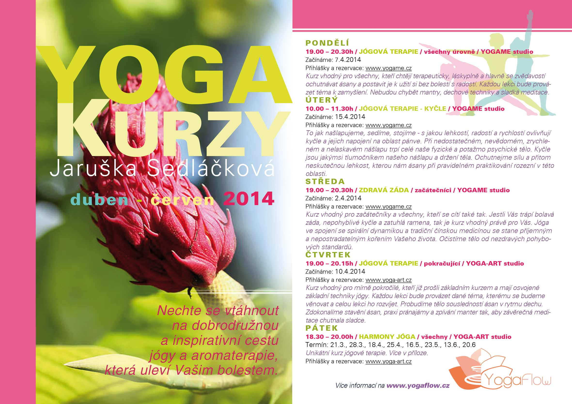 Promotional Leaflet Yoga Flow