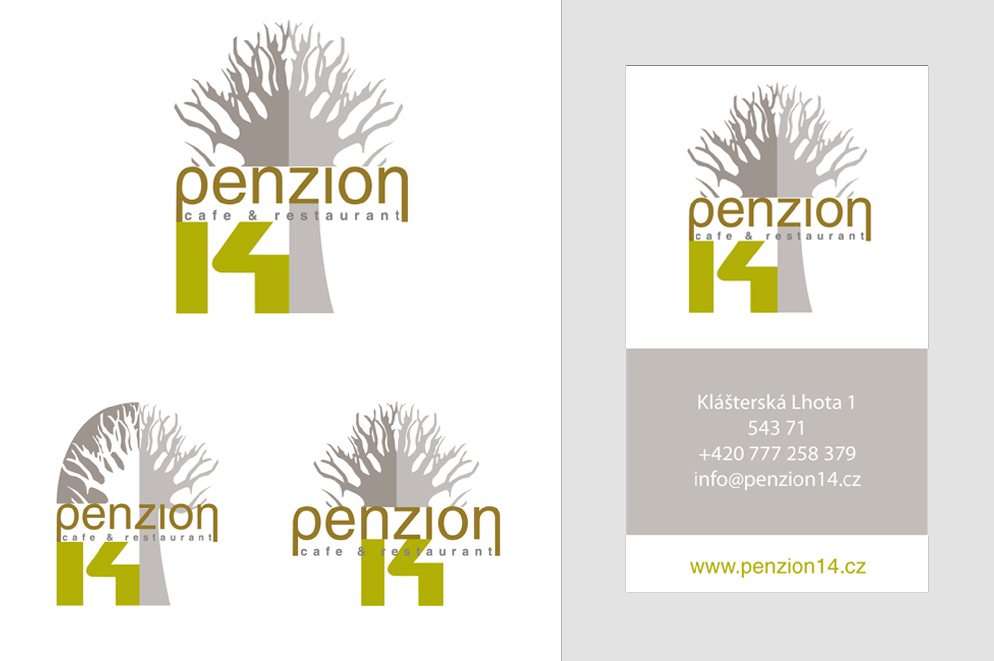 Logo + Business Card Penzion 14