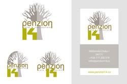 Logo a vizitka Penzion 14