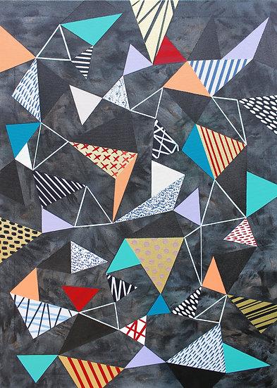Trojúhelníky 6 / Triangles 6 / 70x100 cm