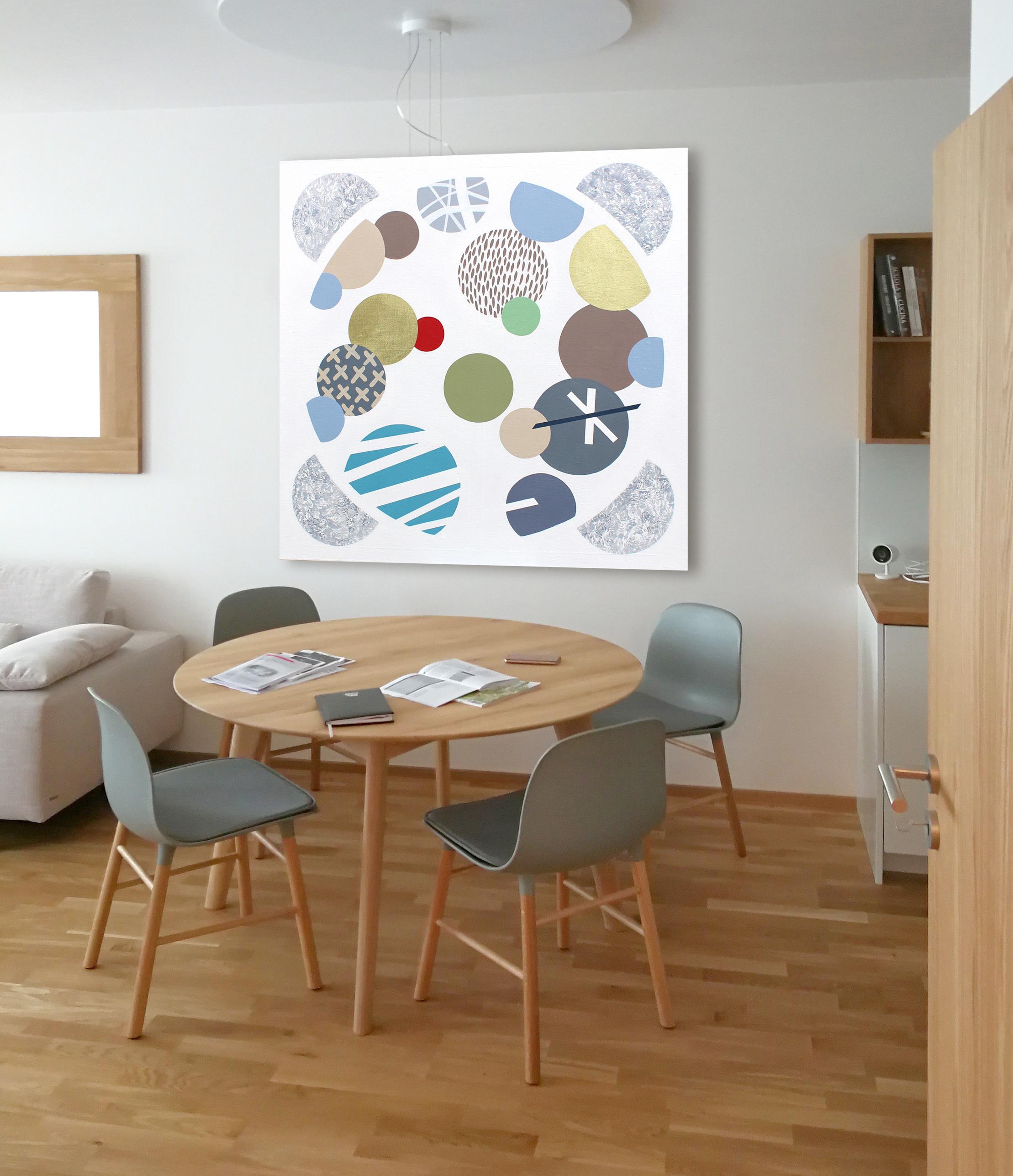 Round Table, 2018, 110x110cm