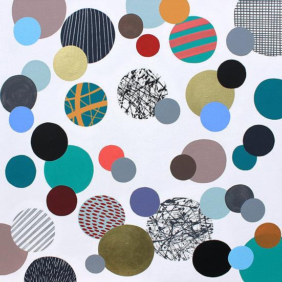 Kolečka 9 / Only dots 9 / 100x100 cm