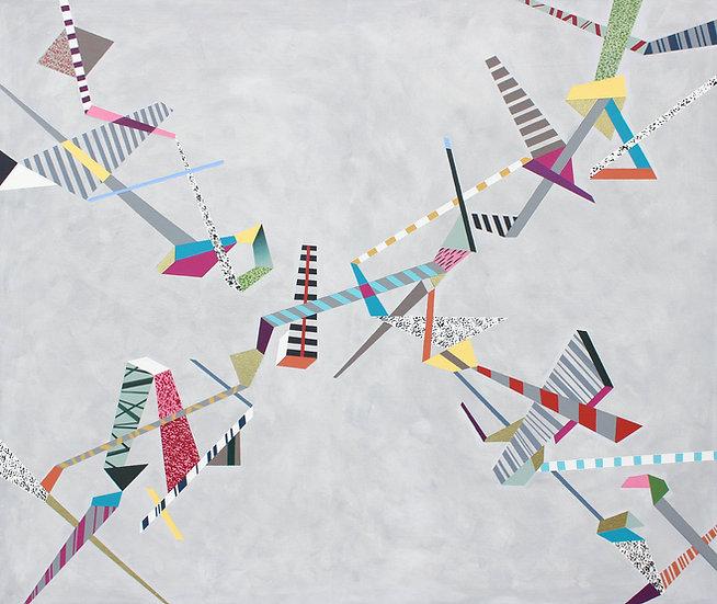 Diagonální kompozice 4 / Diagonal Composition 4 / 110x130 cm