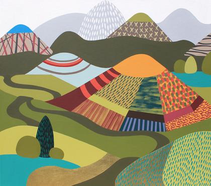 Osobní krajina 25 / My Personal Landscape 25 / 80x90 cm