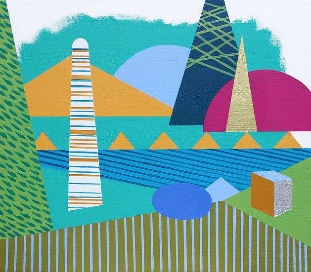 Osobní krajina 2 / My Personal Landscape 2 / 35x40 cm