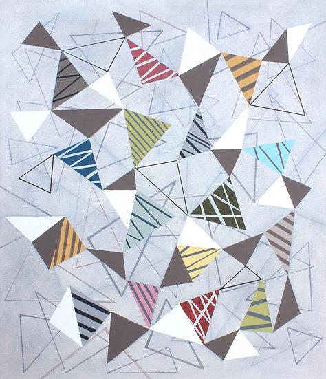 Trojúhelníky 8 / Triangles 8 / 60x70 cm