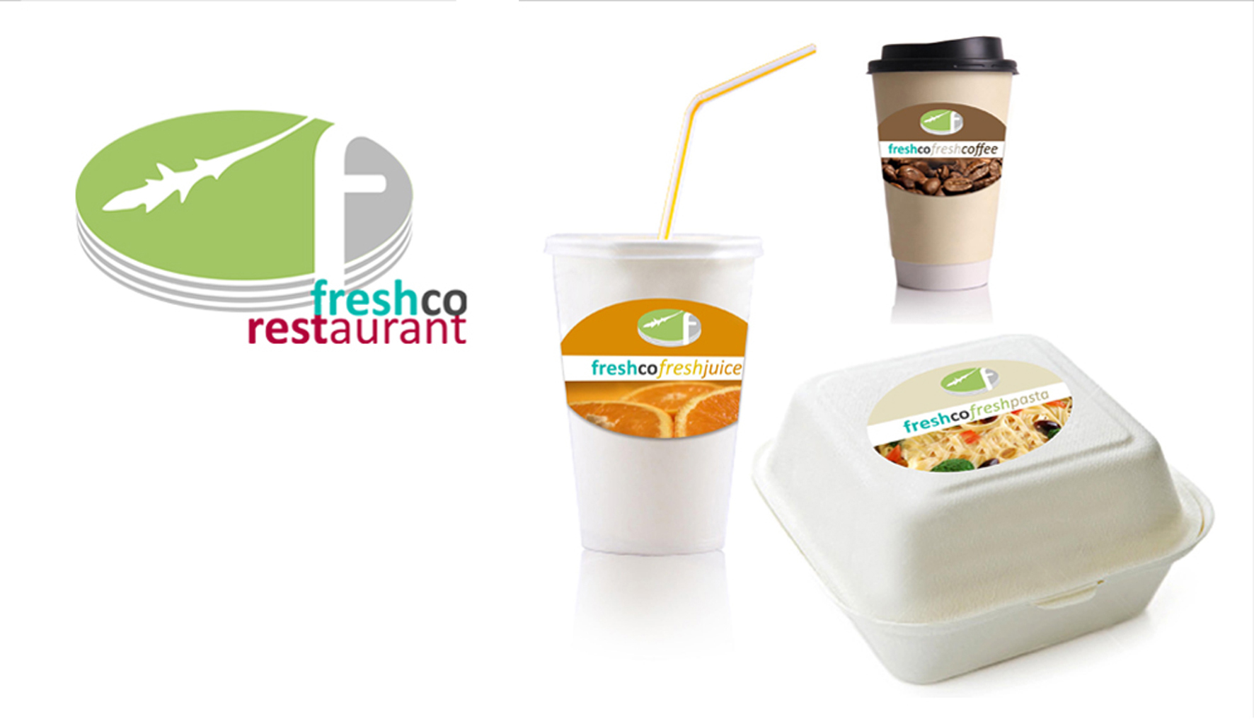 Logo + Label Freshco Restaurant