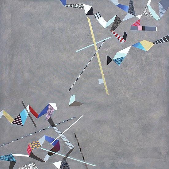 Diagonální kompozice 2 / Diagonal Composition 2 / 100x100 cm