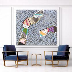 Barva, tvar a textura 1,2020,130x150cm