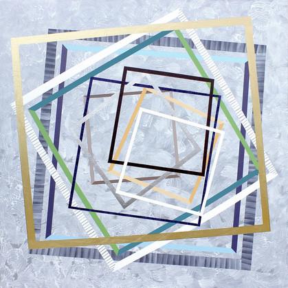 Nepojmenované hranice 1 / Nameless Bounds 1 / 100x100 cm
