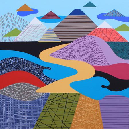 Osobní krajina 11 / My Personal Landscape 11 / 75x75 cm