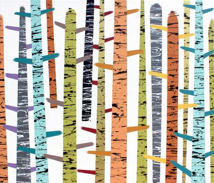 Les 4 / Forest 4 / 60x70 cm