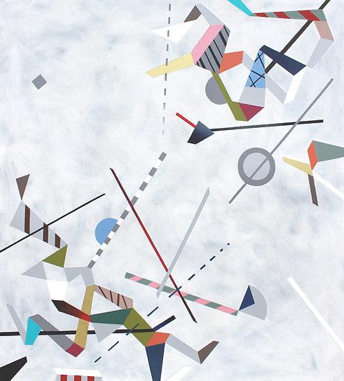 Diagonální kompozice 1 / Diagonal Composition 1 / 90x100 cm