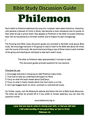 Philemon - Bible Study Guide - A4 format