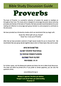 Proverbs - Bible Study Guide - A4 format